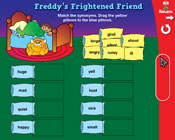 Synonyms: Freddy's Frightened Friend (Grade 2) [Interactive Promethean Version]