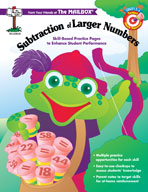 Target Math Success: Subtraction of Larger Numbers (Grades 2-4)