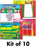 The Mailbox Learning Center Games Complete Set (Grade 3) [Interactive Promethean Version]