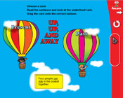 Verb Tenses: Up, Up, and Away (Grade 3) [Interactive Promethean Version]