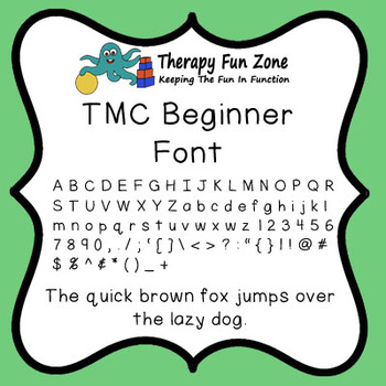 TMC Beginner font: with commercial license
