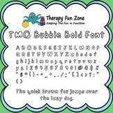 TMC Bubble font with commercial license