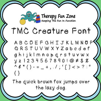 TMC Creature font with commercial license