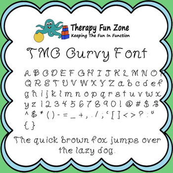 TMC Curvy Font with commercial license