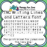 TMC Writing Lines and Letters Font includes commercial license