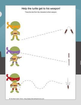 TMNT Themed PreK Fun Pack