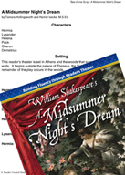 A Midsummer Night's Dream - Reader's Theater Script and Fluency Lesson