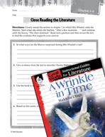 A Wrinkle in Time Close Reading and Text-Dependent Questions (Great Works Series)