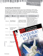 A Wrinkle in Time Leveled Comprehension Questions (Great Works Series)