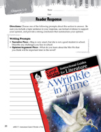 A Wrinkle in Time Reader Response Writing Prompts (Great Works Series)