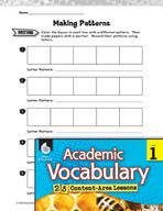 Academic Vocabulary Level 1 - Identifying Patterns