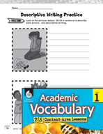 Academic Vocabulary Level 1 - Learning About Descriptive Writing