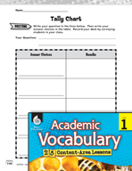Academic Vocabulary Level 1 - Using Tally Charts