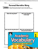 Academic Vocabulary Level 1 - Writing a Personal Narrative