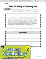 Academic Vocabulary Level 2 - Organizing Expository Texts