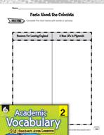 Academic Vocabulary Level 2 - Plymouth Colony