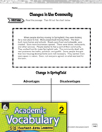 Academic Vocabulary Level 2 - Then and Now