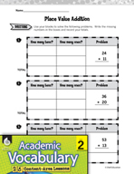 Academic Vocabulary Level 2 - Understanding Place Value