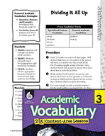 Academic Vocabulary Level 3 - Dividing It All Up