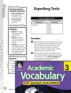 Academic Vocabulary Level 3 - Expository Texts