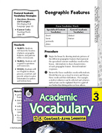 Academic Vocabulary Level 3 - Geographic Features