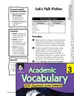 Academic Vocabulary Level 3 - Let's Talk Fiction