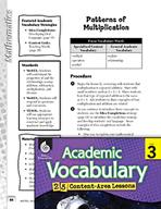 Academic Vocabulary Level 3 - Patterns of Multiplication