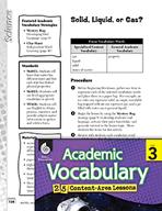 Academic Vocabulary Level 3 - Solid, Liquid, or Gas?