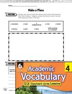 Academic Vocabulary Level 4 - Characteristics of Places