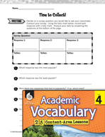 Academic Vocabulary Level 4 - Collecting Data