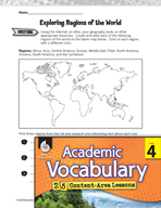 Academic Vocabulary Level 4 - Concept of Regions