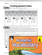 Academic Vocabulary Level 4 - Equivalent Fractions