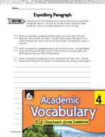 Academic Vocabulary Level 4 - Expository Writing