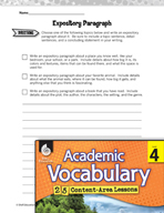 Academic Vocabulary Level 4 - Expository Writing