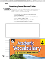 Academic Vocabulary Level 4 - Personal Letter Writing
