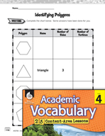 Academic Vocabulary Level 4 - Polygons