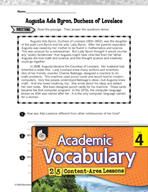 Academic Vocabulary Level 4 - Reading Biographies