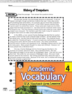 Academic Vocabulary Level 4 - Reading Informational Texts