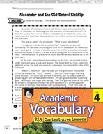 Academic Vocabulary Level 4 - Reading for Character