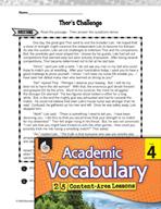 Academic Vocabulary Level 4 - Reading for Plot