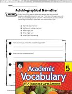 Academic Vocabulary Level 5 - Autobiography