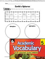 Academic Vocabulary Level 5 - Earth's Spheres