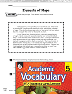 Academic Vocabulary Level 5 - Elements of Maps