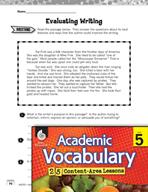 Academic Vocabulary Level 5 - Evaluation