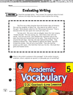 Academic Vocabulary Level 5 - Evaluation