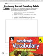 Academic Vocabulary Level 5 - Expository Details