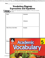 Academic Vocabulary Level 5 - Expressions and Equations