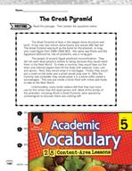 Academic Vocabulary Level 5 - Great Pyramid