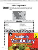 Academic Vocabulary Level 5 - Greek City-States