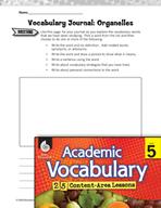 Academic Vocabulary Level 5 - Organelles